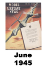 Model Airplane news cover for June of 1945