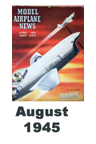 Model Airplane news cover for August of 1945