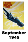 Model Airplane news cover for September of 1945