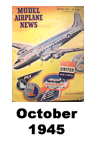 Model Airplane news cover for October of 1945
