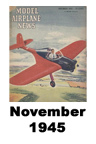 Model Airplane news cover for November of 1945