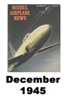 Model Airplane news cover for December of 1945