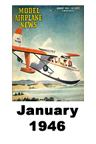 Model Airplane news cover for January of 1946