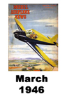 Model Airplane news cover for March of 1946