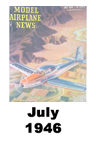 Model Airplane news cover for July of 1946