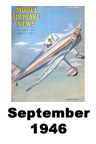 Model Airplane news cover for September of 1946