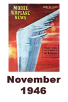 Model Airplane news cover for November of 1946
