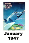 Model Airplane news cover for January of 1947