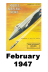 Model Airplane news cover for February of 1947