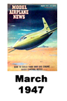 Model Airplane news cover for March of 1947