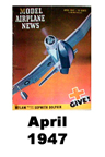 Model Airplane news cover for April of 1947
