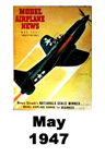 Model Airplane news cover for May of 1947