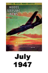 Model Airplane news cover for July of 1947