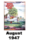 Model Airplane news cover for August of 1947