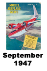 Model Airplane news cover for September of 1947
