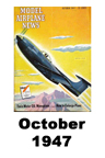 Model Airplane news cover for October of 1947