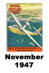 Model Airplane news cover for November of 1947
