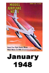 Model Airplane news cover for January of 1948