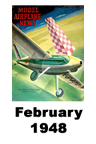 Model Airplane news cover for February of 1948