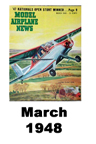 Model Airplane news cover for March of 1948