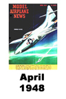 Model Airplane news cover for April of 1948