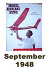 Model Airplane news cover for September of 1948