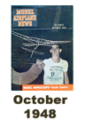 Model Airplane news cover for October of 1948