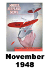 Model Airplane news cover for November of 1948