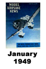 Model Airplane news cover for January of 1949