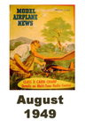 Model Airplane news cover for August of 1949