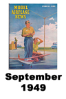 Model Airplane news cover for September of 1949