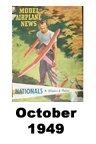 Model Airplane news cover for October of 1949