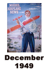 Model Airplane news cover for December of 1949