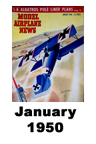 Model Airplane news cover for January of 1950