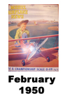 Model Airplane news cover for February of 1950