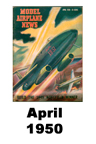 Model Airplane news cover for April of 1950