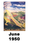 Model Airplane news cover for June of 1950