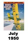 Model Airplane news cover for July of 1950
