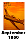 Model Airplane news cover for September of 1950