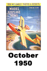 Model Airplane news cover for October of 1950