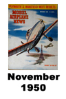 Model Airplane news cover for November of 1950