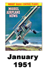 Model Airplane news cover for January of 1951