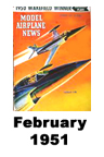 Model Airplane news cover for February of 1951