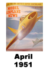 Model Airplane news cover for April of 1951