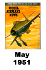 Model Airplane news cover for May of 1951