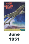 Model Airplane news cover for June of 1951