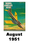 Model Airplane news cover for August of 1951