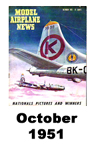 Model Airplane news cover for October of 1951