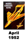 Model Airplane news cover for April of 1952