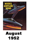 Model Airplane news cover for August of 1952